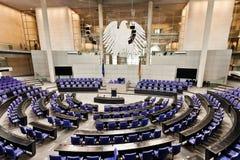 柏林西德联邦议会议会reichstag空间 库存图片