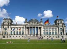 柏林议会reichstag 免版税库存图片