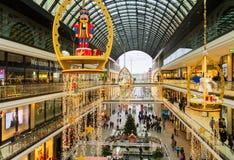 柏林购物中心圣诞节立场 免版税库存图片