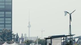 柏林都市风景在夏天 股票录像