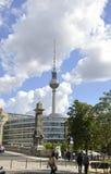 柏林,德国威严27 :从柏林的电视塔在德国 免版税库存图片