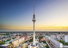 柏林,德国市地平线 库存图片