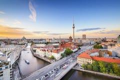柏林,德国狂欢河地平线 库存图片