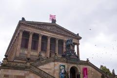 柏林,德国,博物馆岛,美术画廊,历史大厦也是纪念碑, 库存照片
