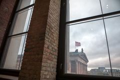 柏林,德国,博物馆岛,美术画廊,历史大厦也是纪念碑, 库存图片