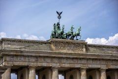 柏林,德国, 2017年6月20日:Brandenburger突岩看法在柏林 免版税图库摄影