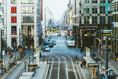 柏林,德国,2018年10月7日:Friedrichstrasse是著名s 库存照片