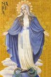柏林,德国, 2017年2月- 14日:圣母无染原罪瞻礼壁画在赫日Jesu教会 图库摄影