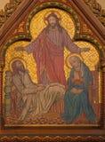 柏林,德国, 2017年2月- 15日:在木头的油漆圣约瑟夫死亡在圣约翰浸礼会教友大教堂 库存图片