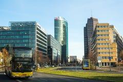 柏林,德国-在波茨坦广场的索尼中心 免版税库存照片