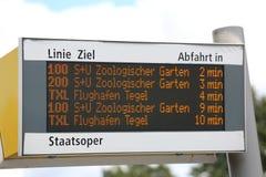 柏林,德国- 2017年8月19日:与公开公共汽车timeta的盘区 图库摄影