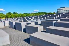柏林,德国- 2017年6月10日:对欧洲的被谋杀的犹太人的柏林纪念品如被看见2017年6月10日以记念 库存照片