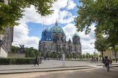 柏林,德国- 2018年7月01日:柏林大教堂 图库摄影