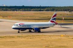 柏林,德国- 2018年9月7日:英国航空,空中客车A32 库存照片