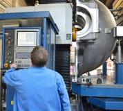 柏林,德国- 2013年4月18日:金属组分在铸造厂-机械工程的生产 免版税图库摄影
