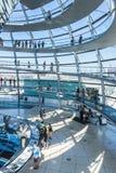 柏林,德国- 2018年7月7日:Reichstag的玻璃圆顶, 免版税图库摄影