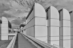 柏林,德国- 2015年7月:鲍豪斯建筑学派档案, Desi博物馆  免版税库存照片