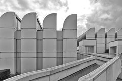 柏林,德国- 2015年7月:鲍豪斯建筑学派档案, Desi博物馆  库存照片