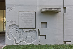 柏林,德国- 2014年7月:Corbusier Haus被设计了  免版税库存图片