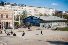 柏林,德国- 2012年10月29日:克罗伊茨贝格地区,柏林 免版税图库摄影