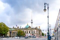 柏林,德国10月7日:典型的街道视图2016年10月7日 免版税图库摄影