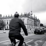 柏林,德国10月7日:典型的街道视图2016年10月7日 库存图片