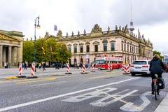 柏林,德国10月8日:典型的街道视图2016年10月8日 库存图片