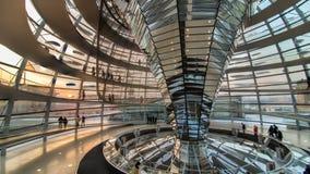 柏林,德国- 2014年1月26日:在Reichstag圆顶里面,德国联邦议会在柏林 免版税库存照片