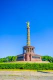 柏林,德国- 2015年6月06日:胜利专栏在蒂尔加滕公园在中心在柏林 库存照片