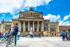 柏林,德国- 2015年5月25日:音乐堂在柏林 架设在1818-1821年 免版税库存照片