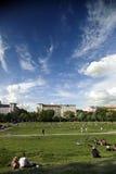 业余时间在Gorlitzer公园柏林德国 免版税图库摄影