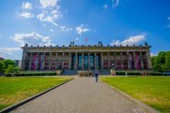 柏林,德国- 2015年6月06日:Altes博物馆在柏林,一最重要在首都 免版税库存照片