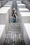 柏林,德国- 2006年12月30日 纪念犹太人纪念碑 免版税库存图片