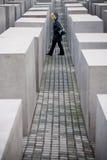 柏林,德国- 2006年12月30日 纪念犹太人纪念碑 库存图片