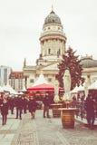 柏林,德国- 12月06,2017 :圣诞节市场, Deutscher 免版税库存照片