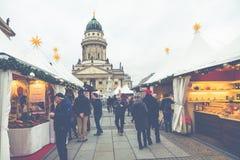 柏林,德国- 12月06,2017 :圣诞节市场, Deutscher 免版税库存图片