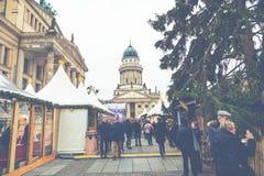柏林,德国- 12月06,2017 :圣诞节市场, Deutscher 图库摄影