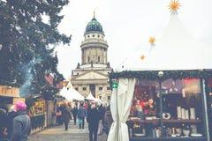 柏林,德国- 12月06,2017 :圣诞节市场, Deutscher 库存图片