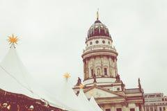 柏林,德国- 12月06,2017 :圣诞节市场, Deutscher 免版税图库摄影