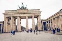 柏林,德国- 12月06,2017 :柏林勃兰登堡门胸罩 库存照片
