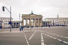柏林,德国- 12月06,2017 :柏林勃兰登堡门胸罩 库存图片