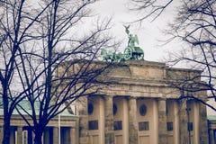 柏林,德国- 12月06,2017 :柏林勃兰登堡门胸罩 免版税图库摄影