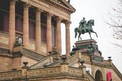 柏林,德国- 12月06,2017 :Alte国家外视图  免版税库存照片