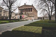 柏林,德国- 12月06,2017 :Alte国家外视图  库存照片