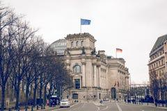 柏林,德国- 12月06,2017 :Reichstag大厦,位子  免版税库存照片