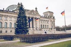 柏林,德国- 12月06,2017 :Reichstag大厦,位子  库存图片
