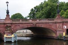 柏林,桥梁威廉・勃朗特街道 库存照片