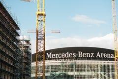 柏林, 2017年10月03日:多用途体育馆的重建叫奔驰车竞技场 竞技场是 库存照片
