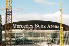 柏林, 2017年10月03日:多用途体育馆的重建叫奔驰车竞技场 竞技场是 免版税图库摄影