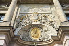 柏林, GERMANY/EUROPE - 9月15日:Zeughaus 17世纪Ge 免版税库存照片